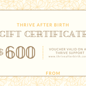 $600 Gift Certificate