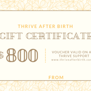 $800 Gift Certificate